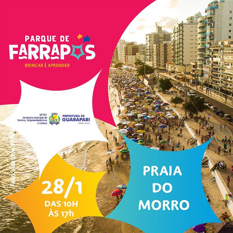 Praia do Morro recebe projeto de diversão e aprendizado para toda família
